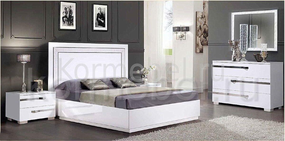 Комоды для спальни белый глянец