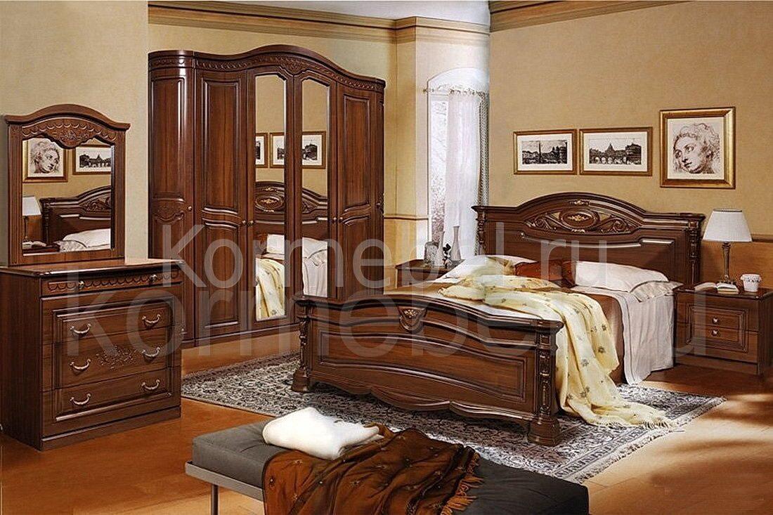 Комплект спальни Сорренто (Кровать 180*200, тумба 2шт, комод с